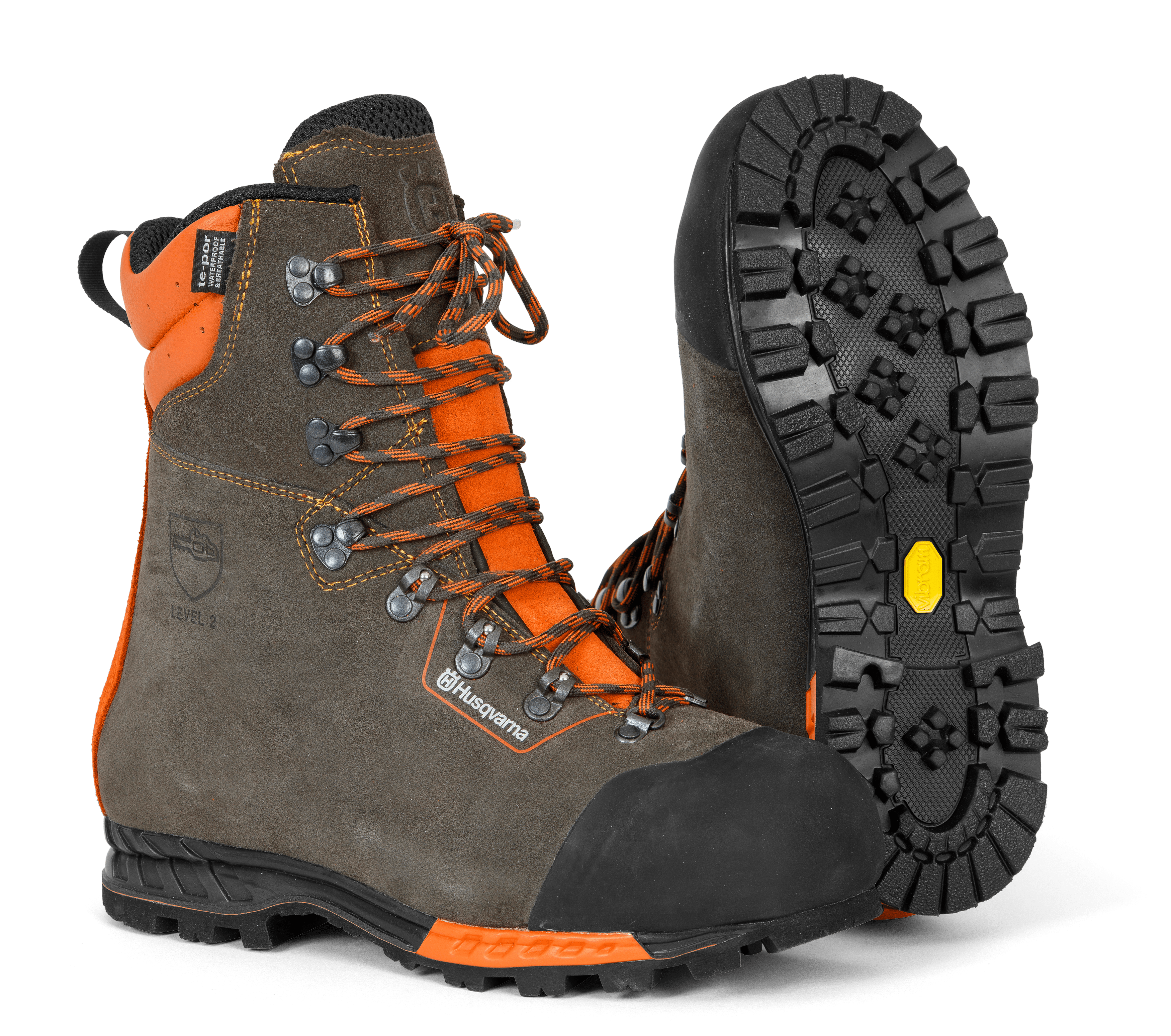HUSQVARNA Protective leather boots with saw protection, Functional 24 - V-Pro Power Equipment