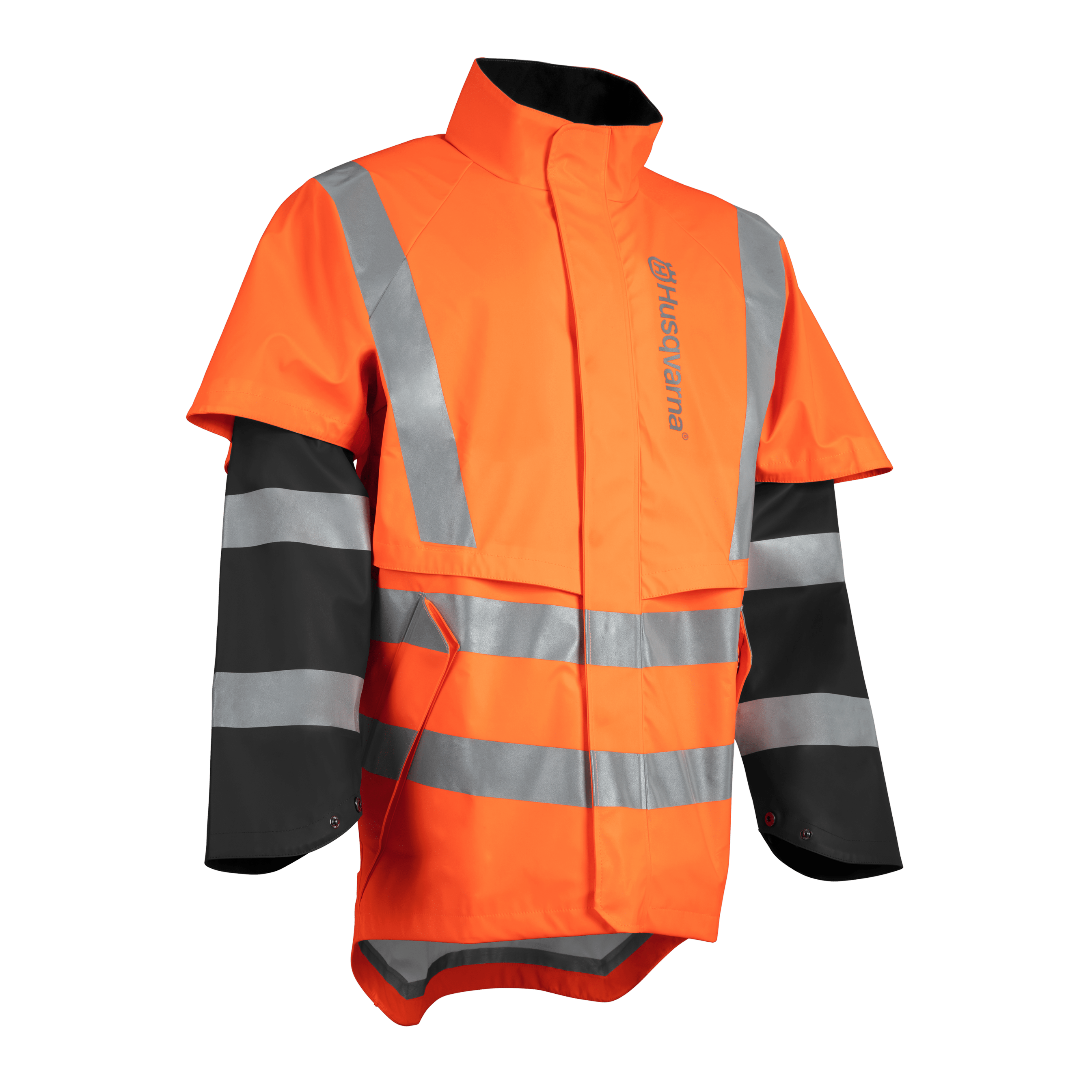 HUSQVARNA Rain Jacket Protect High-Viz, Functional - V-Pro Power Equipment